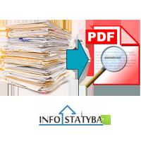 Projektų skenavimas bylų suformavimas Infostatyba